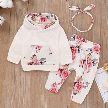 12adba0f4ee1 Beautiful Floral Long-sleeve Hoodie