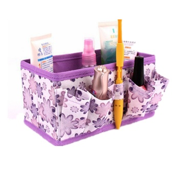 Practical Foldable Allover Floral Cosmetic Storage Box