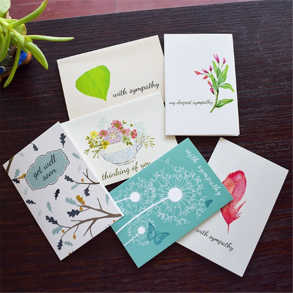 6-piece Pretty Thanks Greeting Cards