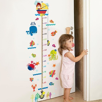Cutie Cat Design Height Wall Sticker