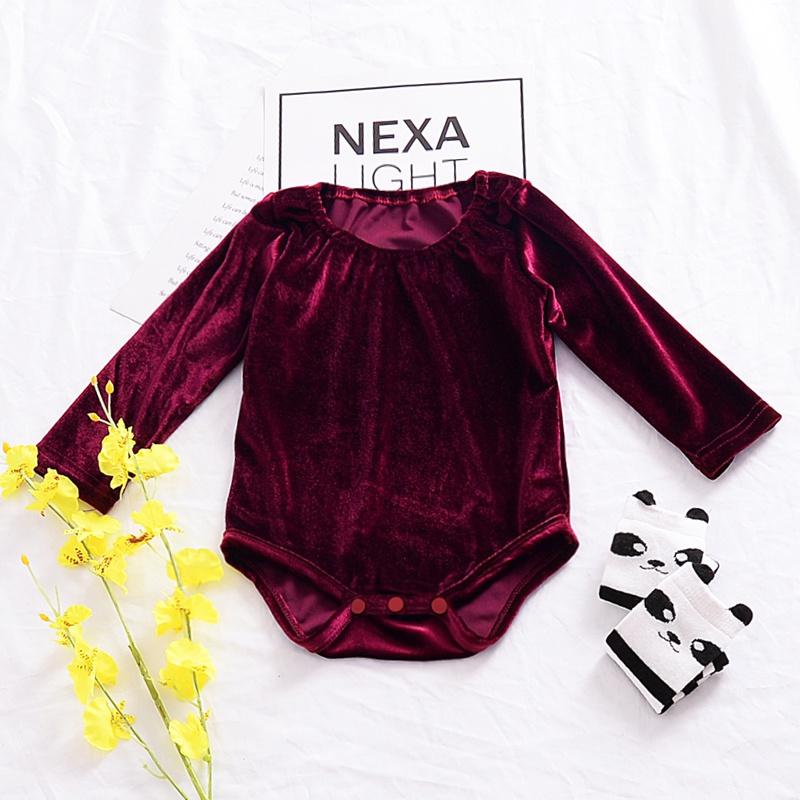 2be3fb612b56 Sale Chic Long-sleeve Velvet Bodysuit for Baby Girl at PatPat.com