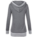 Trendy Button V Neck Hoodie