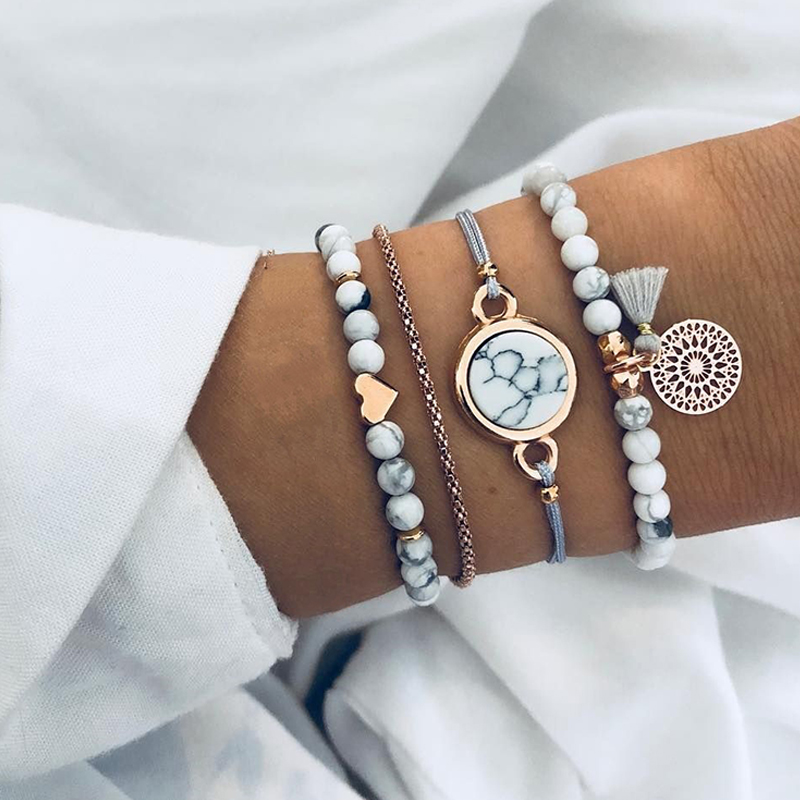 50 Gift Ideas for Mums | Vintage Beaded Bracelets Set | Beanstalk Mums