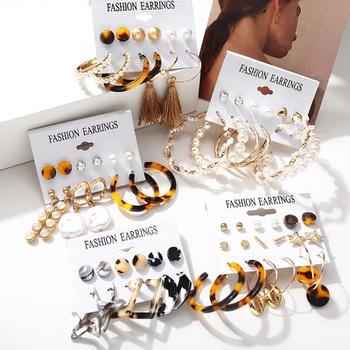 6-pcs Bohemian Earring Studs Women Dainty Studs Tiny Jewelry