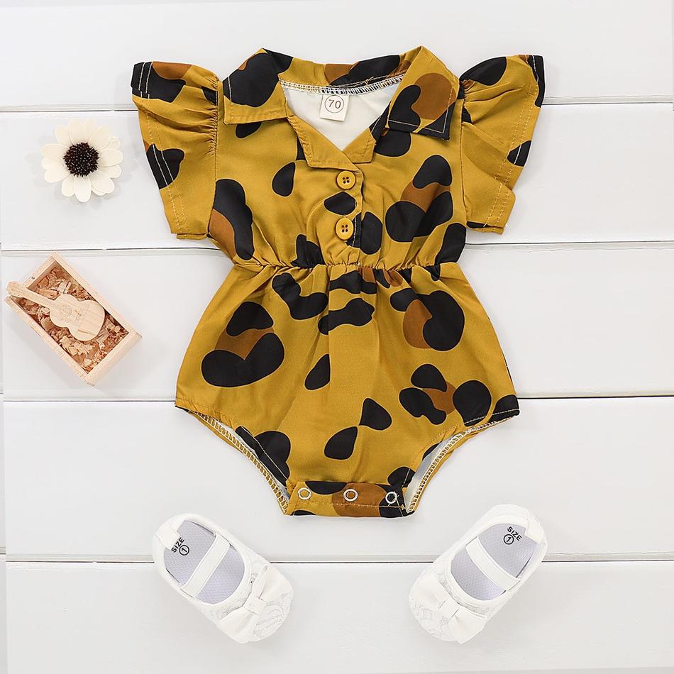6753d63ff36c8 Baby impression léopard bébé fille de justaucorps at PatPat.com
