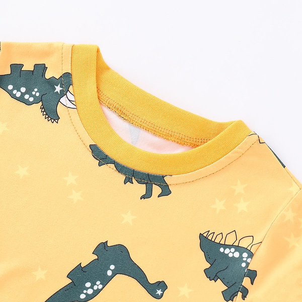 Causal Dinosaur Patterned Little Star Top