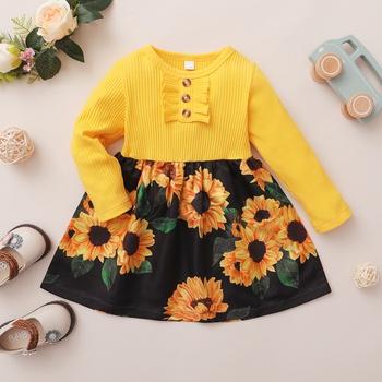 Baby / Toddler Sunflower Splice Dress