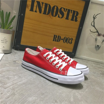 Casual lace-up Sewing Thread Canvas Shoes