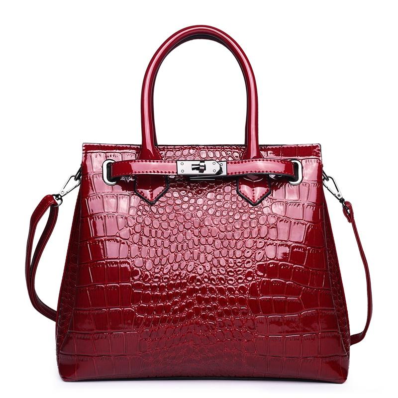 Home-Accessories Vintage Buckle Crocodile Skin Design Shoulder Bag ... fe67f6c7e3c7c