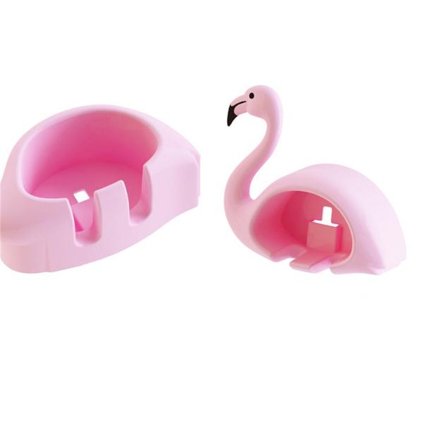 Stylish Flamingo Design Toothbrush Storage Rack