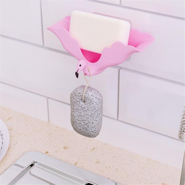 Useful Flamingo Design Soap Holder Storage Rack