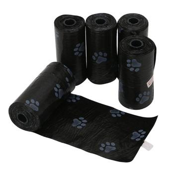 1 Roll 20 Pcs Durable Dog Footprint Garbage Bags