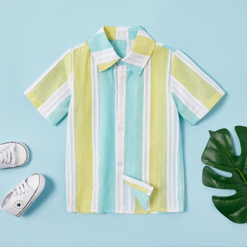 Toddler Boy Stylish Striped Shirt