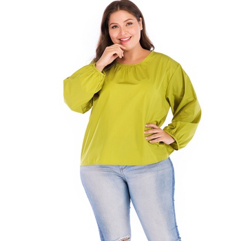 Pretty Solid Pleated Long-sleeve Tee
