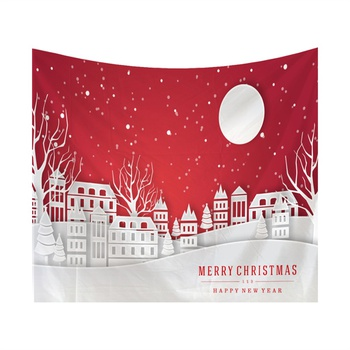 Stylish New Year and Christmas Theme Tapestry for Wall Decor