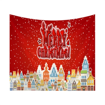 Colorful Christmas Theme Tapestry for Wall Decor