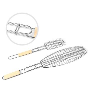 3-piece Stylish BBQ Grilling Metal Mesh Clip and Racks