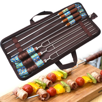 7-piece BBQ Skewers and Forks Set