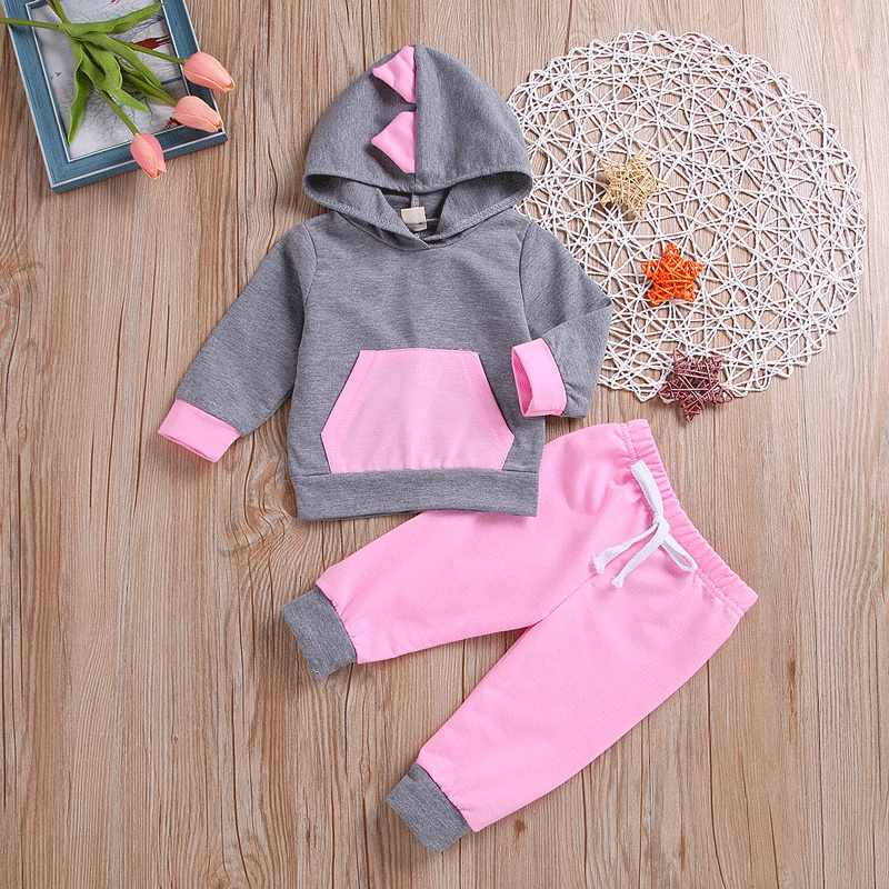 f602fa30e55b Baby 2-piece Casual Dinosaur Design Long-sleeve Pullover and Pants ...