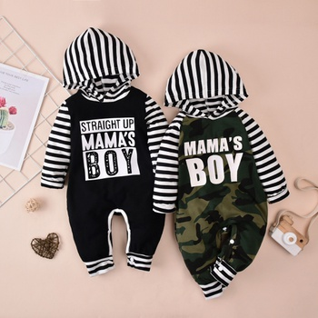 Baby Striped Hooded Jumpsuit