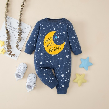 Baby SWEET ALL NIGHT Moon Stars Jumpsuit