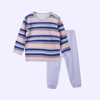 Comfy Striped Long-sleeve Top and Pants  for Baby