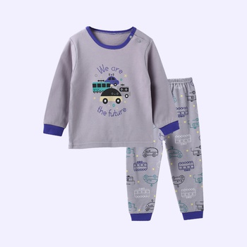 "Casual ""We are the future"" Car Print Long-sleeve Top and Pants Set"