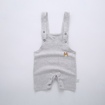 Giraffe in Pocket Suspender Shorts for Baby