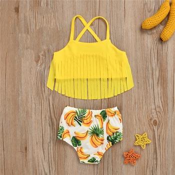 2pcs Baby Girl Pineapple Swimsuit