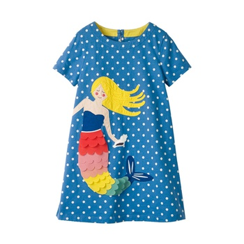 05c8d8a9 Fashionable Cartoon Appliqued Short-sleeve Dress