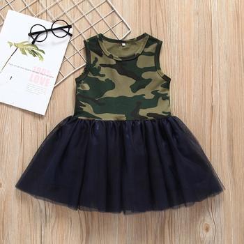 2e6a8a538e48f Sleeveless Camouflage Tutu Dress