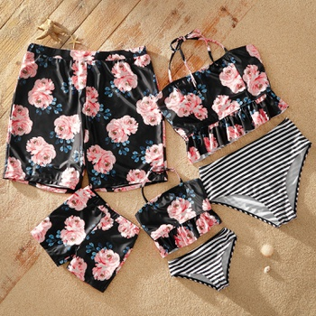 Tankinis Floral Print Matching Swimsuits