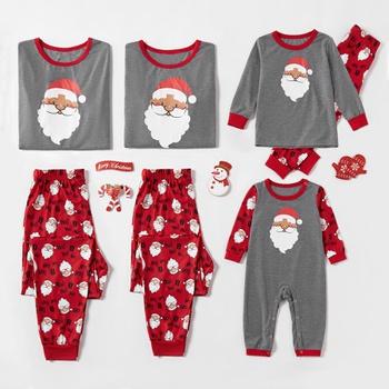 Christmas Cute Santa Print Family Matching Pajamas Sets (Flame Resistant)