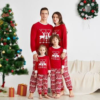 Mosaic Family Matching ReinDeer Pajamas Set for Dad - Mom - Kid(Flame Resistant)