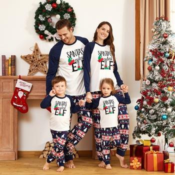 Christmas Santa's Cutest Elf Family Matching Pajamas Sets (Flame Resistant)