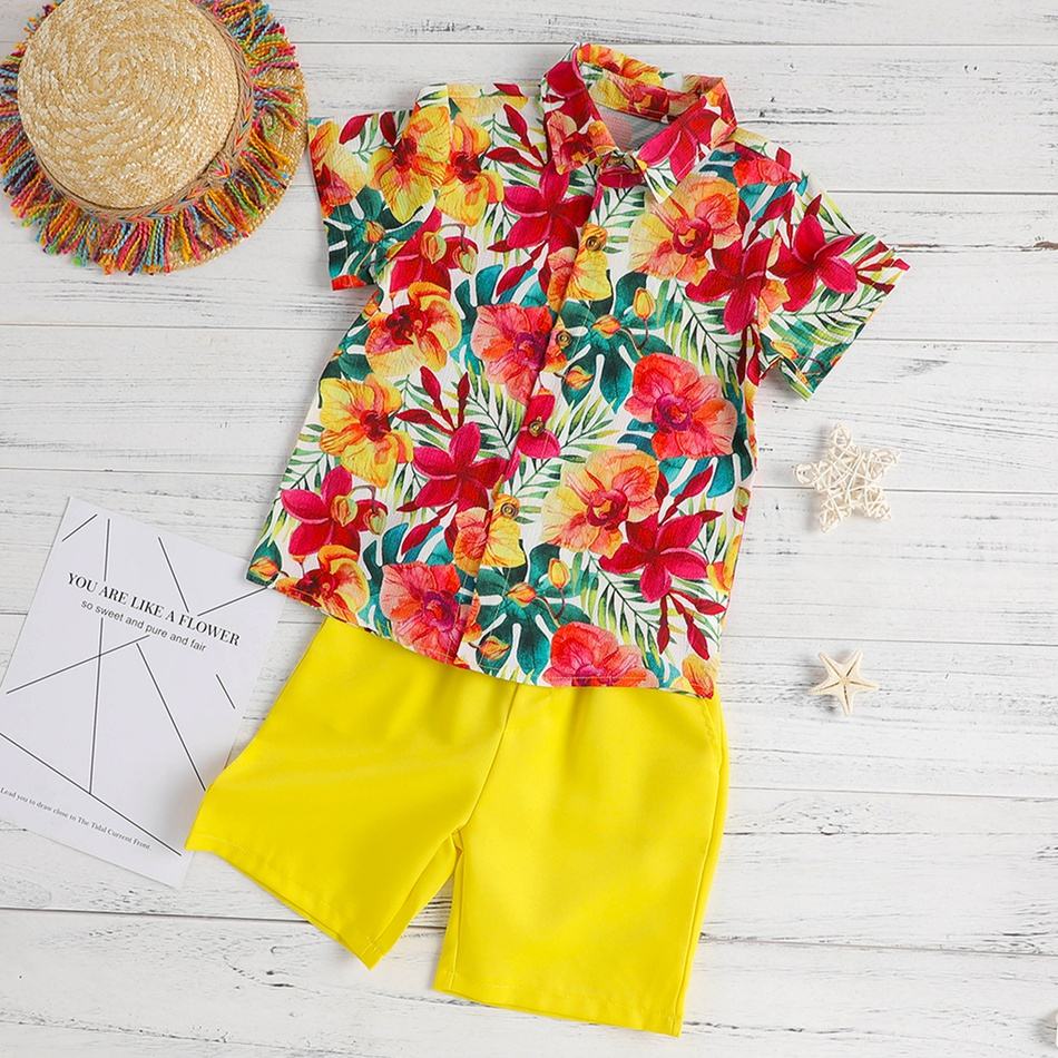 f0b8dacf9 Floral Shirt And Shorts Set | Saddha