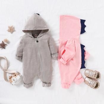 Baby Girls / Boys 3D Dinosaur Hooded Long-sleeve Jumpsuit