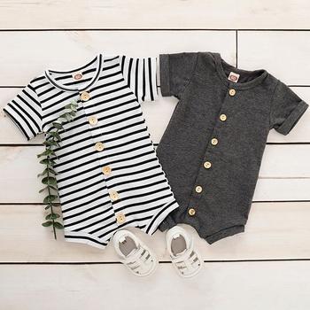 Baby Striped Short-sleeve Romper