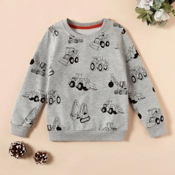 Fashionable Cartoon Car Long-sleeve Sweatershirt