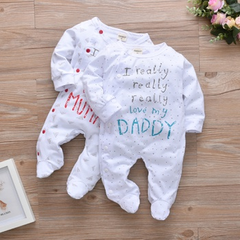 549b0bba728e Baby I Really Love My Mummy Daddy Print Jumpsuit