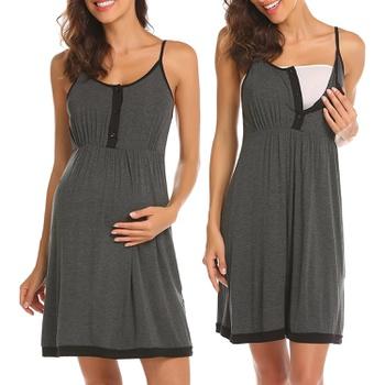 Maternity Cami Color block Knee length H Sleeveless Nursing Dress