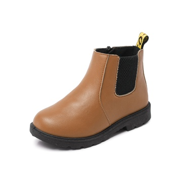 Fashionable Solid Ankle Boots for Kid