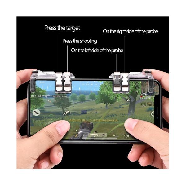 Sensitive Transparent Shoot and Aim Keys Game Controller