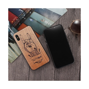 Creative Wood Grained fingers Design Anti-Drop Phone Case for iPhone
