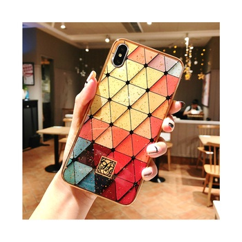 Stylish Rhombus Pattern Phone Case for iPhone and Samsung