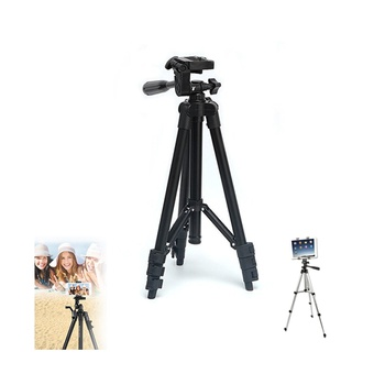 Retractable Mini Lightweight Tripod for Camera and Mobile in Black