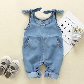 Baby / Toddler Boy / Girl Denim Suspender Jumpsuit