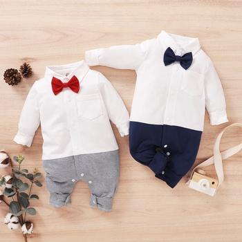 Baby Gentleman Bowknot Jumpsuit