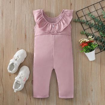 1pc Baby Girl  Sleeveless straight Jumpsuits