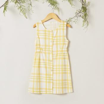 Sweet Plaid Sleeveless Dress